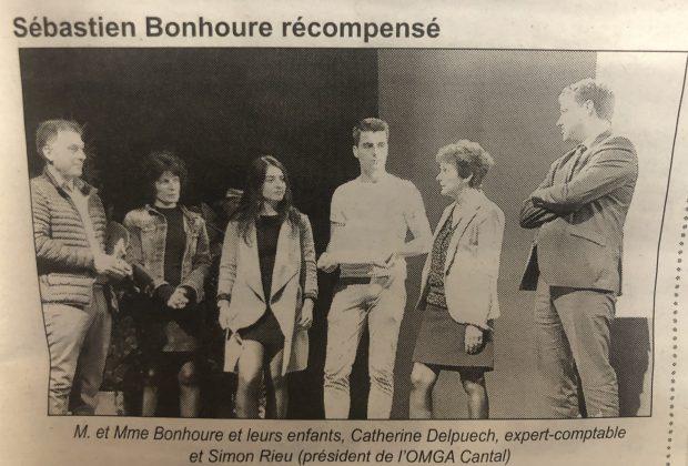Sébastien BONHOURE récompensé