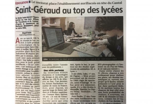Saint-Géraud au top des lycées